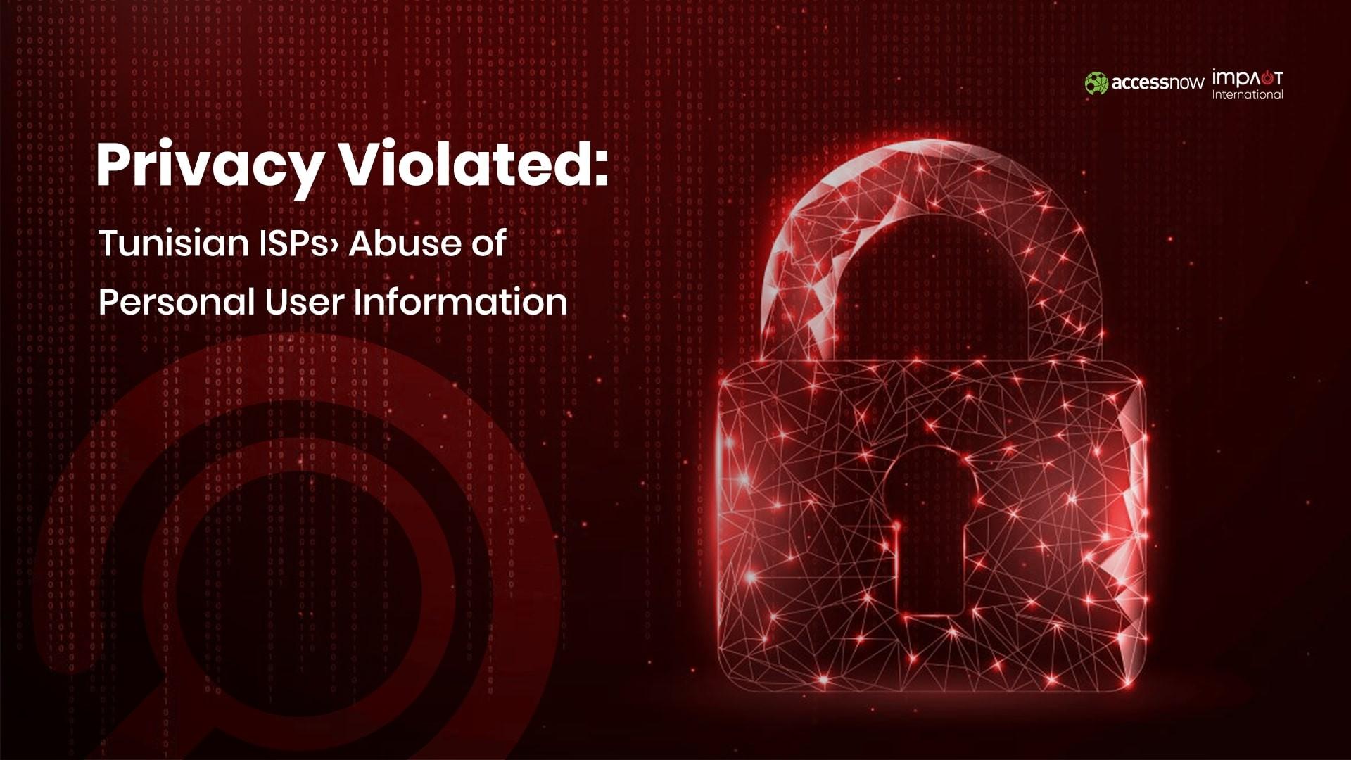 New Study: Tunisian ISPs violate customers' privacy